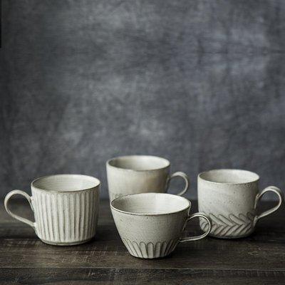 千禧禧居~原來是泥|復古日式手工陶瓷做舊風咖啡杯帶碟帶勺小資杯子下午茶