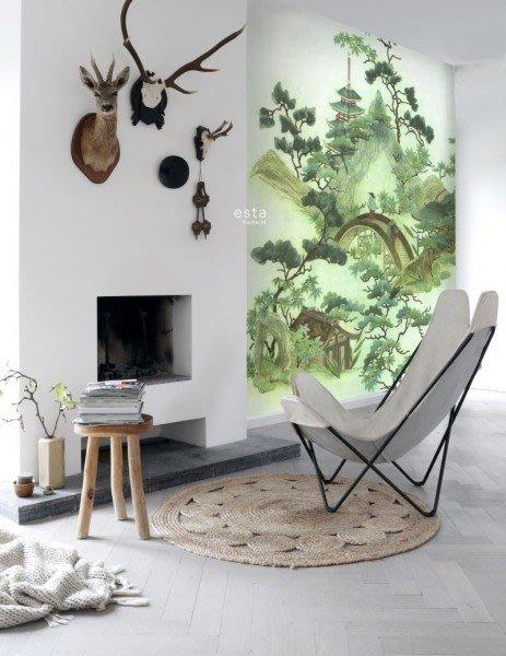 【Uluru】歐洲期貨壁紙.北歐簡約 chinoiserie 風景 景色 山水畫 植物 壁紙 HE105系列
