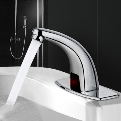 全銅冷熱感應水龍頭單冷智慧全自動感應式可旋轉紅外線控制洗手器頭-微利雜貨鋪-可開發票