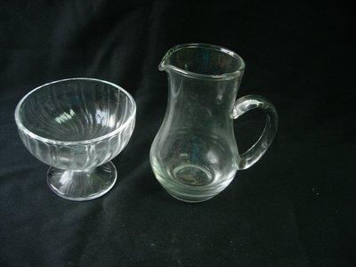 玻璃盛器2件 小食碗 酒茶壺