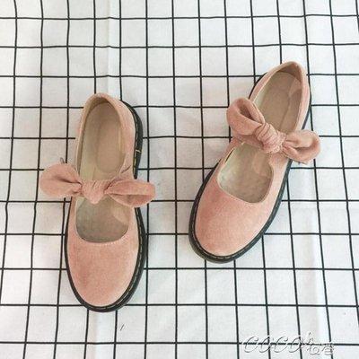 娃娃鞋 春夏圓頭學生小皮鞋女日繫低跟單鞋娃娃鞋粉色
