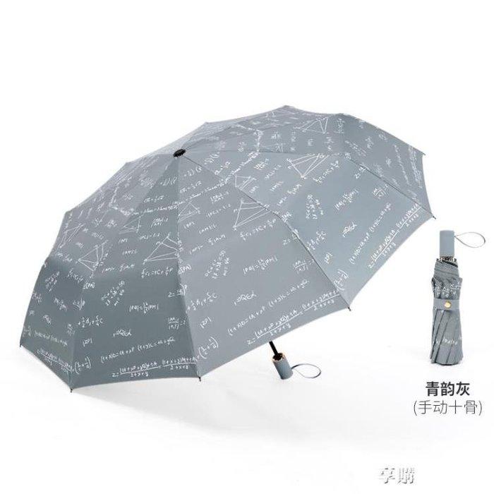 雨傘 10骨文藝黑膠遮陽傘男女防曬太陽傘雙人摺疊晴雨傘防紫外線 【HOLIDAY】