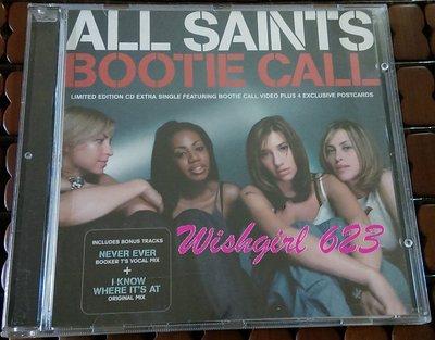 All Saints 聖女合唱團 -『Bootie Call』絕版珍藏單曲CD (附寫真明信片- 4張)