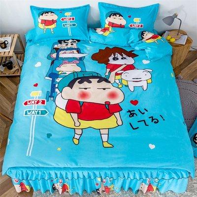 床裙 美少女全棉卡通床裙四件套1.5m1.8床哆啦A夢純棉床罩單件被套枕套單件