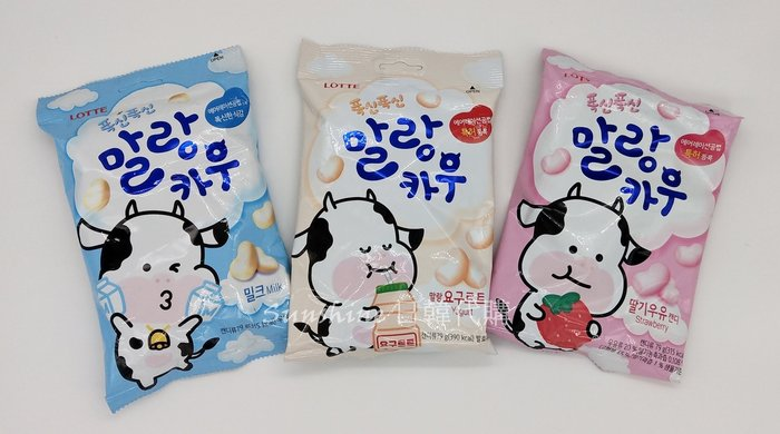 即期出清 新包裝 韓國 LOTTE 樂天 草莓棉花糖 養樂多棉花糖 牛奶棉花糖 79g