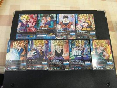 七龍珠carddass9張閃美卡單張90全收750