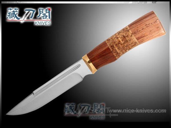 《藏刀閣》FB1102 非洲雞翅木直刀