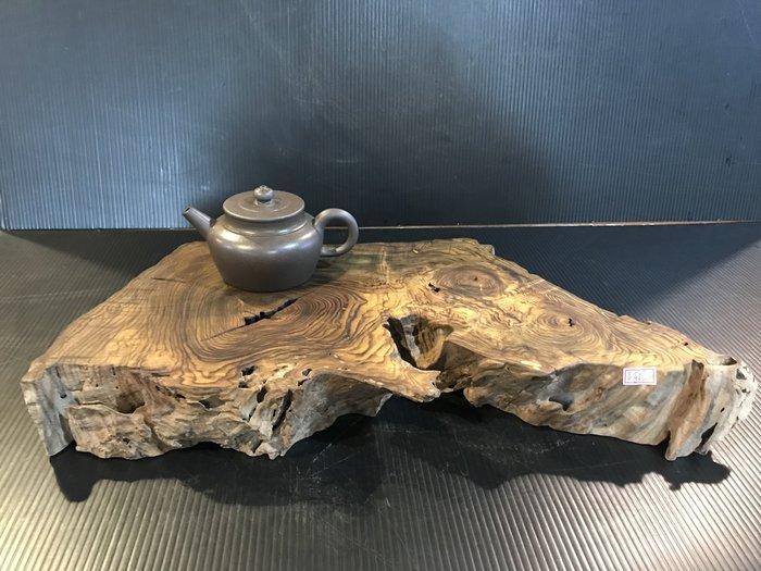 [檜人檜語 】黃金虎斑黃蓮木乾式茶盤-木座