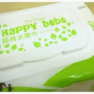Happy bebe    純水濕紙巾86抽12包/箱,包包有蓋