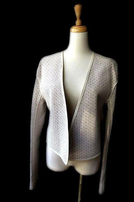 *Beauty*CHLOE米色蕾絲皮衣 全新 原價10萬 VL 售58800元