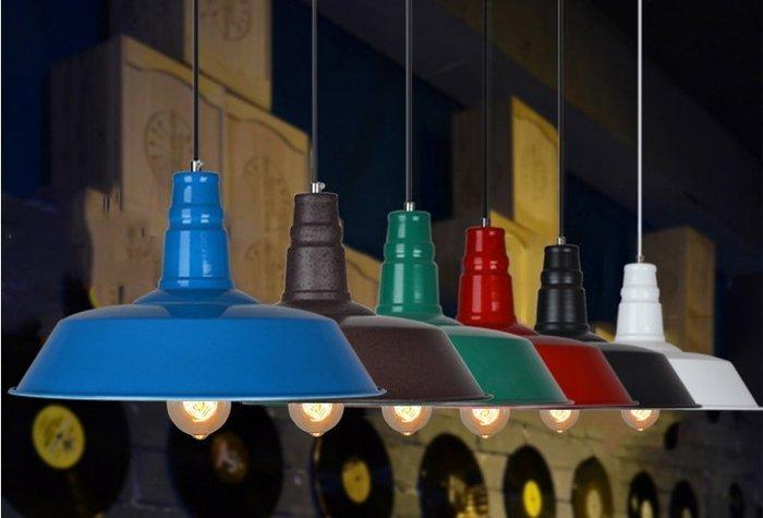 【易發生活館】美式吊燈北歐復古loft工業風餐廳吊燈具現代簡約懷舊吧臺鍋蓋吊燈