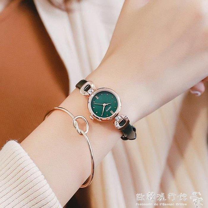 流行女錶  小錶盤手錶女學生潮流韓版簡約女士手錶防水時尚款女