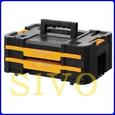 ☆SIVO五金商城☆美國DEWALT DWST17804 變形金剛系列 雙抽屜工具箱 手提箱 零件箱 多格工具箱