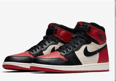 NIKE喬丹 Air Jordan 1 Retro High OG 'Bred Toe' 555088-610籃球鞋男女