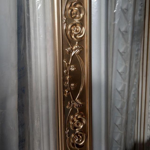 歐洲藝術 PU系列浮雕 平線板 裝飾 鏡框 框邊修飾 /適用全身鏡 框條 /一支 240公分PI-6048-0金色