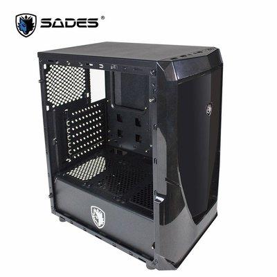 免運費 SADES VIOLENT WOLF 狂暴狼 全透側水冷電腦機箱