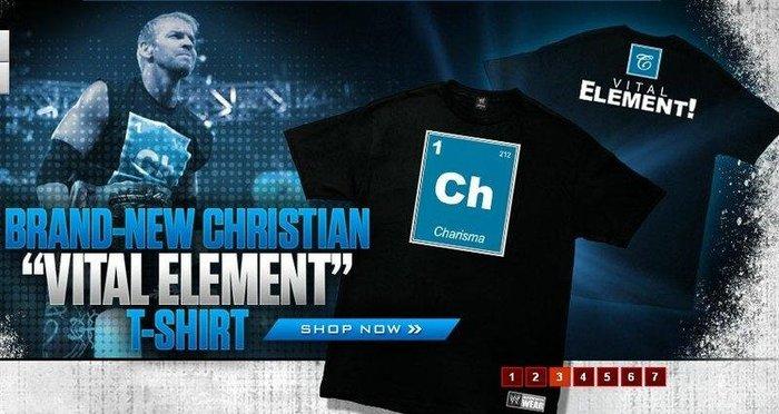 ☆阿Su倉庫☆WWE摔角 Christian Vital Element T-Shirt 魅力大隊長關鍵元素絕版款出清中