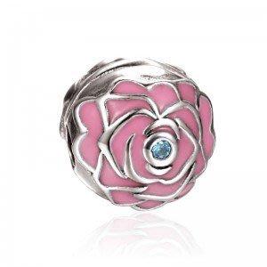 ** 現貨 ** SOUFEEL PANDORA 粉紅色玫瑰 定位珠 固定扣 潘朵拉 PANDORA 也可用