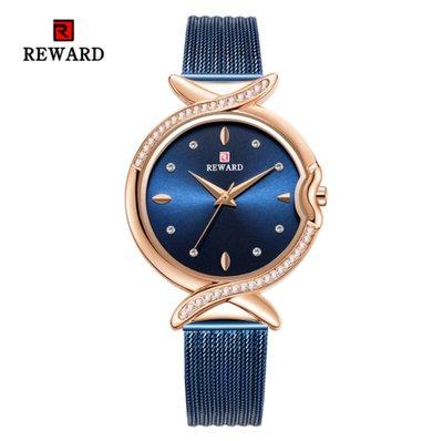 【潮裡潮氣】REWARD鑲鑽防水石英女士手錶學生時尚休閒腕錶網帶女錶RD63075L