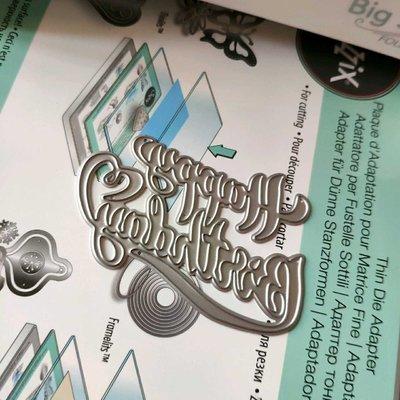 阿里家 scrapbook DIY相冊卡片薄板模具  19009 生日快樂 卡影/訂單滿200元出貨