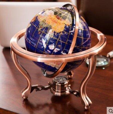 【易生發商行】天天特價22cm藍寶石地球儀家居裝飾商務禮品地球儀工藝品禮F6414