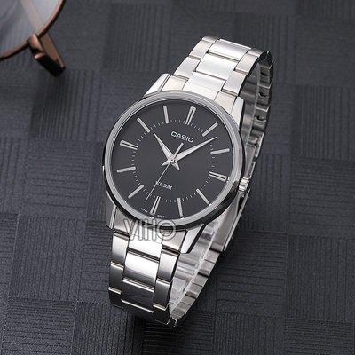 手錶海外直郵CASIO卡西歐手表石英鋼帶防水商務男表MTP-1303D-1A正品腕錶