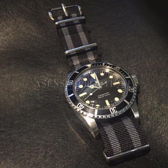 ♤ASENSERI♤ PHOENIX NATO BELT 007 詹姆斯邦德風格 條紋尼龍錶帶