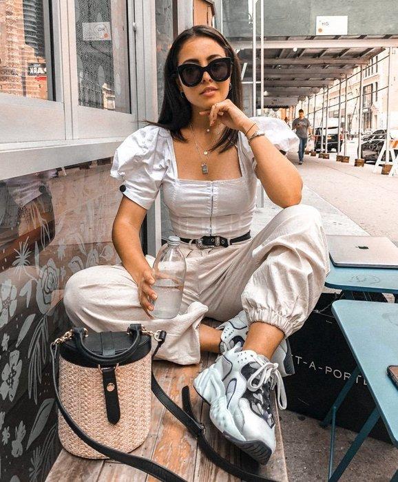 CC Collection 代購 Acne Studios Manhattan 黑白色復古厚底老爹鞋