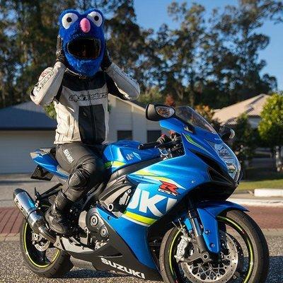【丹】A_Moto Loot Helmet Cover 安全帽套 芝麻街 藍色款