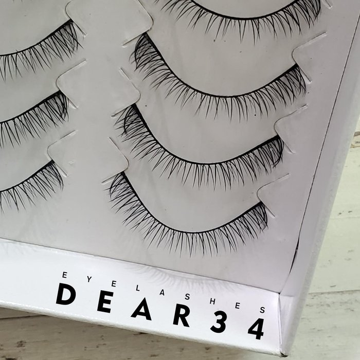 《Dear34》亮麗Ⅱ 627黑梗自然凌亂V型根根分明下睫毛仿真假睫毛