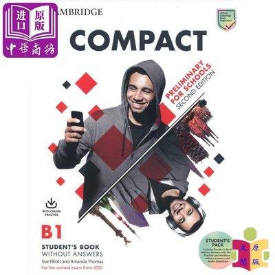 [文閲原版]Compact Preliminary for Schools Students Book 英文原版 劍橋P