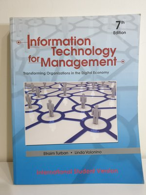 Information technology for management 資訊管理導論 資訊管理 大學 英 原文書