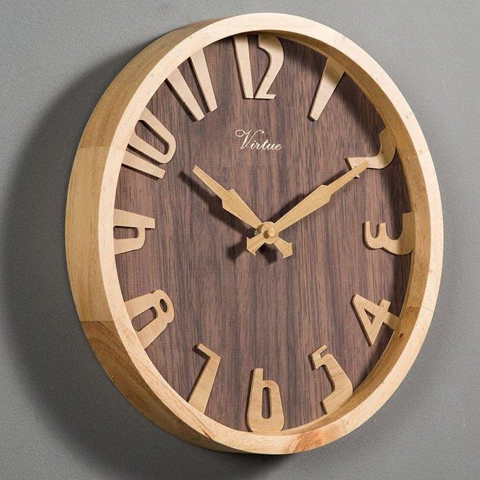 〖洋碼頭〗創意掛鐘客廳家用簡約時鐘藝術時尚大氣鐘錶木質北歐個性牆表鐘 xtm133