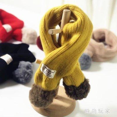新款兒童秋冬季圍巾男童女童韓版嬰兒針織毛線保暖圍脖加厚 ysj139【時尚玩家】