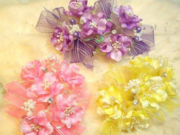 B. & W. world *美美的花飾*R13146***櫻花+鑽心頭飾、胸花創意花飾***整體攝影美感***