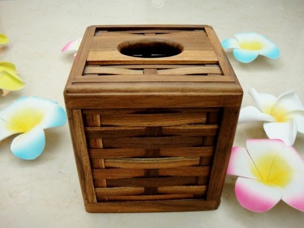 Y【永晴峇里島】巴里島木編直筒面紙盒,增添異國風味,居家,民宿,飯店都好用-面紙盒12@