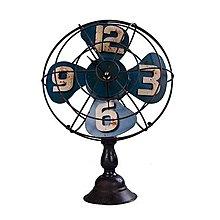 複古懷舊鐵皮電風扇模型家居裝飾擺件電扇鐘表店鋪拍攝陳列道具*Vesta 維斯塔*