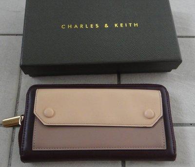 CHARLES & KEITH 小ck 女用  長夾 長皮夾 零錢 紙鈔 信用卡 悠遊卡 證件..等