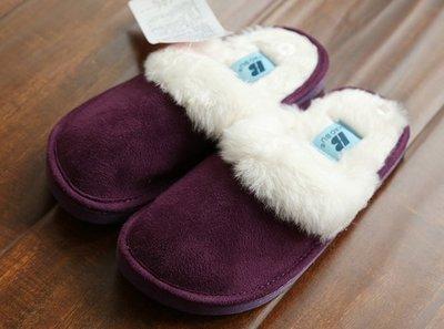 兒童家居保暖拖鞋 防滑保暖內裡加绒 31號 紫色