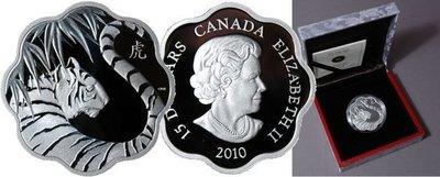 加拿大 紀念幣 2010 虎年生肖紀念銀幣 原廠原盒