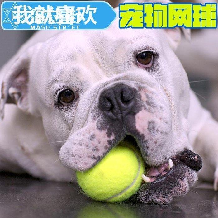 狗狗玩具球耐咬金毛泰迪磨牙網球寵物小型犬狗玩具用品漏食球