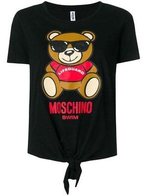 義大利品牌代購 ~ MOSCHINO Teddy T-shirt  SWIM / LIFEGUARD / 綁帶短袖T恤