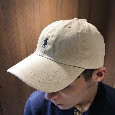 美國百分百【全新真品】Ralph Lauren 帽子 RL 配件 棒球帽 Polo 小馬 帆布 刺繡 卡其 A732