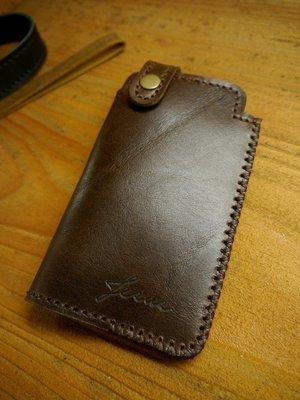 KH手工皮革工作室MIT全牛皮SONY索尼Xperia 5 客製手機皮套 背有一夾層信用卡夾 自選配色
