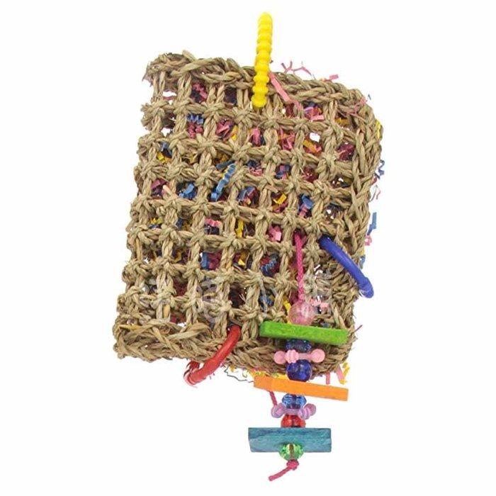 ☆汪喵小舖2店☆ 阿迷購鳥用玩具-迷你覓食袋 // 適合中小型鸚鵡