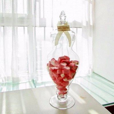 **蕾絲公主**新品推出part2**歐式高腳玻璃糖果罐(G款)~婚禮佈置、夢幻candy bar、主題週歲生日派對