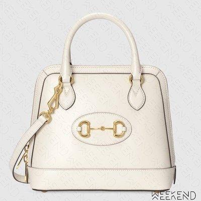 【WEEKEND】 GUCCI 1955 Horsebit Small 小款 手提包 肩背包 白色 621220