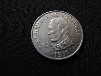 【寶家】絕版 菲律賓錢幣 1991年 2PISO 尺寸23mm【品項如圖】@341