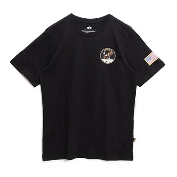 南 2019 11月 ALPHA SPACE SHUTTLE 短TEE NASA 阿波羅 美國 太空梭 黑 白色 國旗