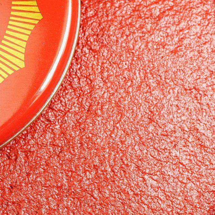 奇奇店-工字牌紅色印泥印臺辦公印章篆刻橡皮章財務鐵殼裝泥狀印泥按手印#蓋章清晰 #簽名神器 #不掉色